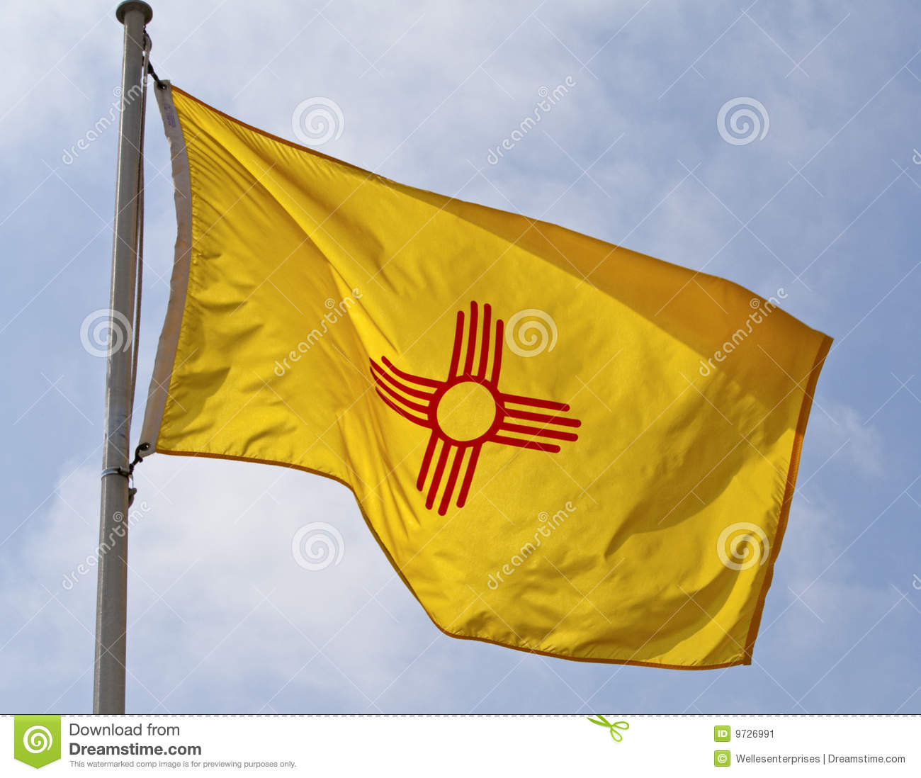 New mexico state flag stock image image of mexico pole 9726991 new mexico state flag buycottarizona