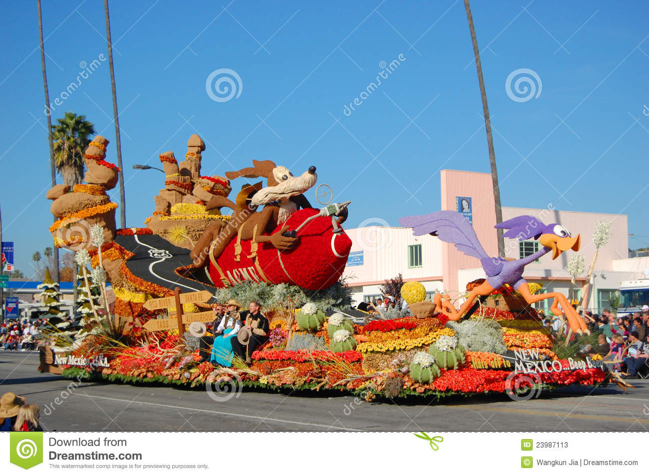 New Mexico State Parade Float Editorial Stock Photo