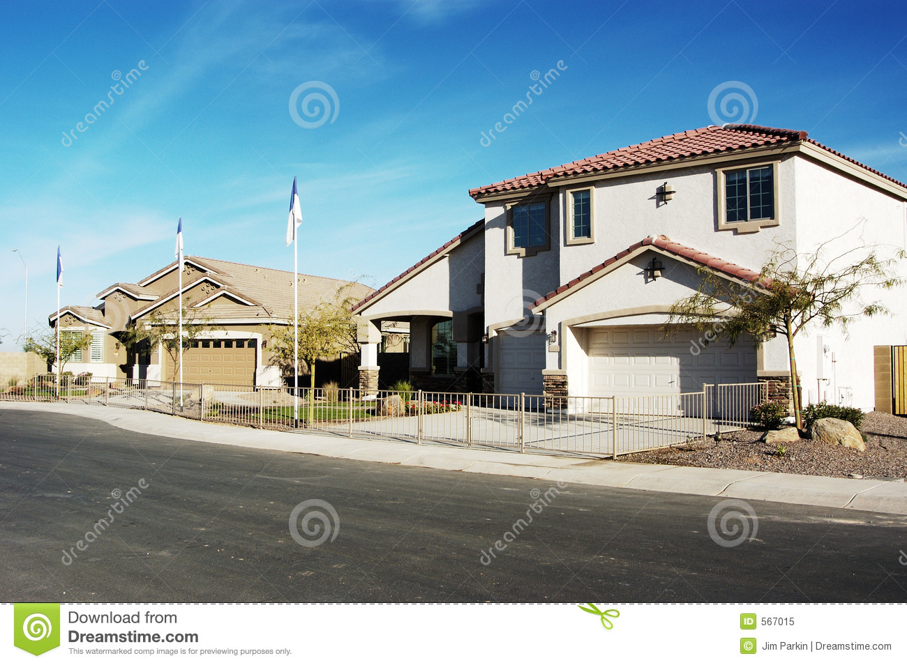 New model homes stock image image of models southwest for Modern model homes