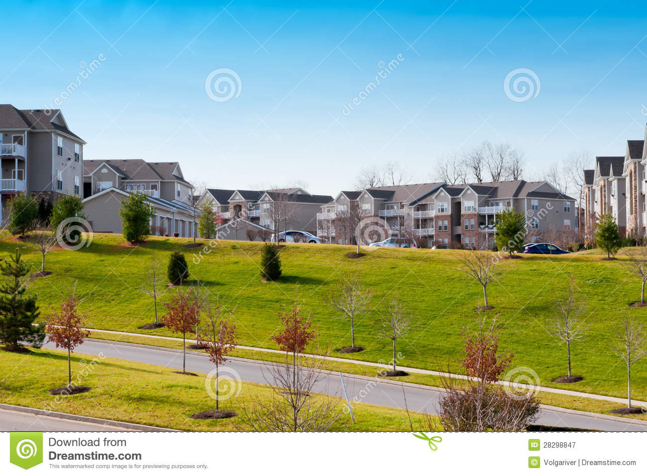 New Modern Appartment Complex Royalty Free Stock