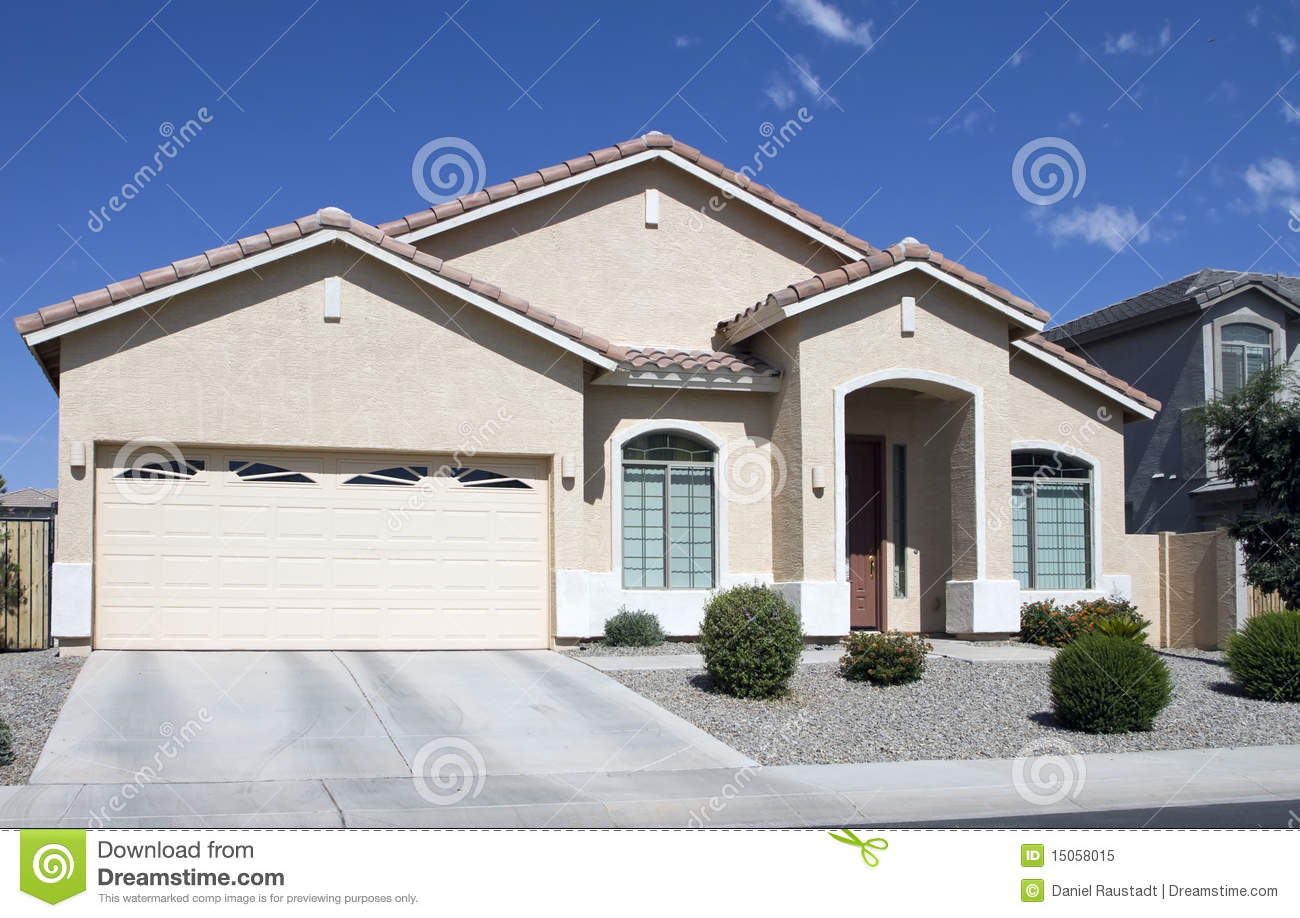 New modern classic home neighborhood stock photo for Modern classic house