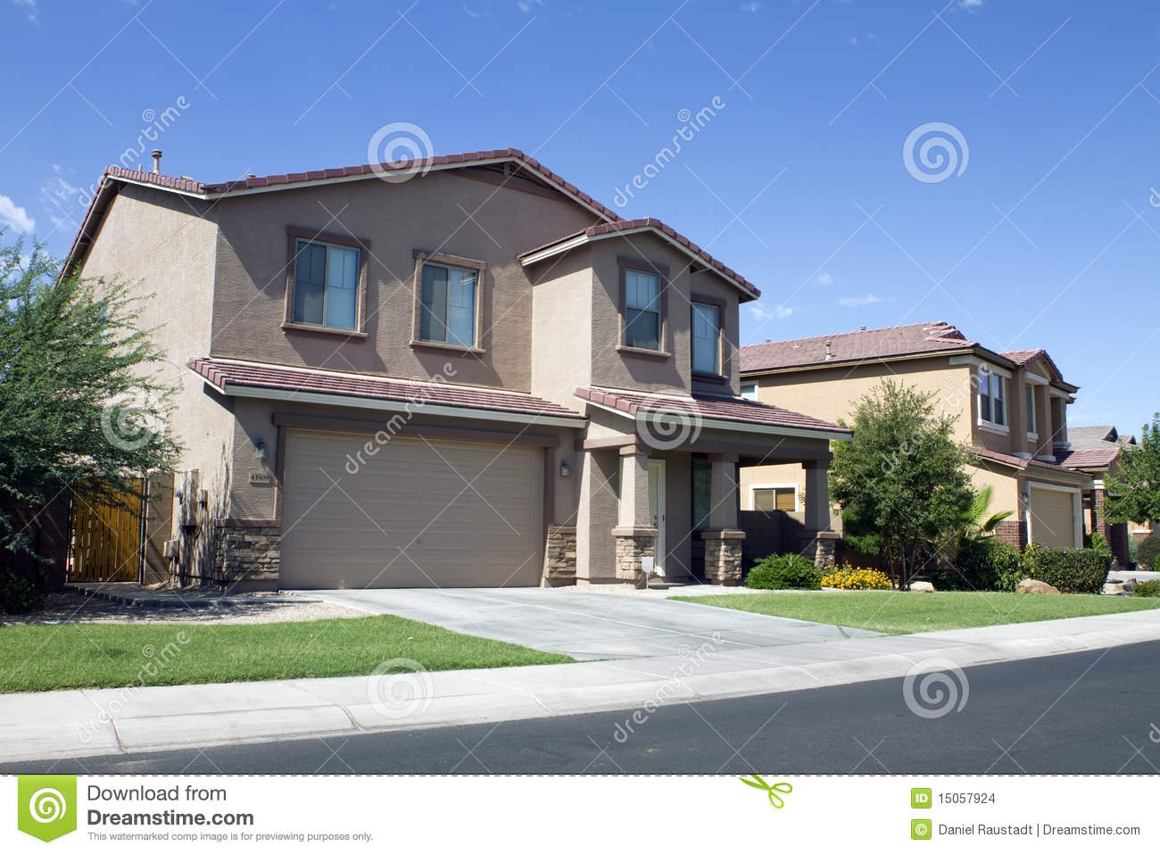 New modern classic home neighborhood stock photo image for Modern classic house