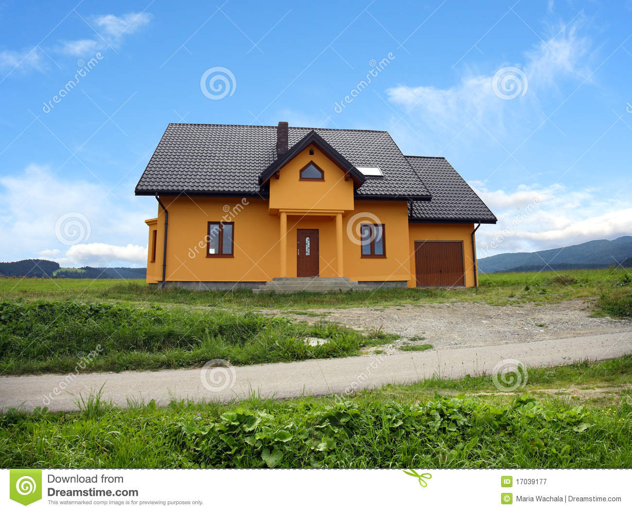 New modern classic home poland royalty free stock for New classic homes
