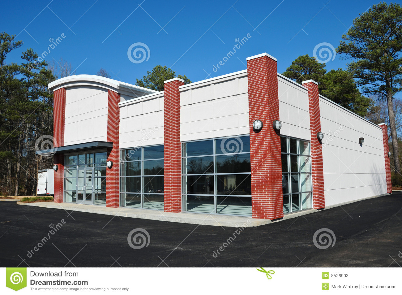 New modern commercial building stock photos image 8526903 for Modern commercial building