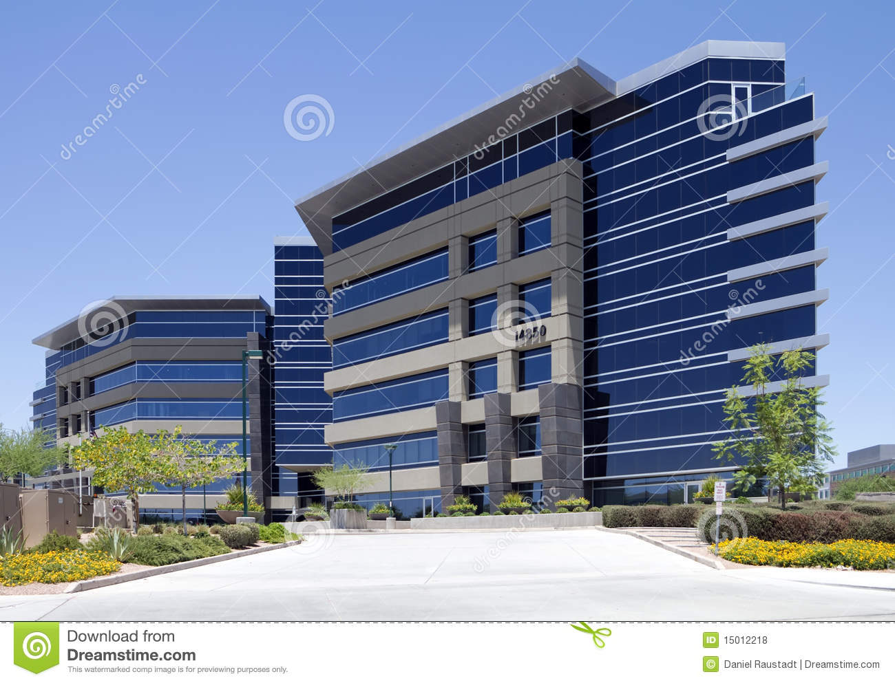 New Modern Corporate Office Building Exterior Stock Photo