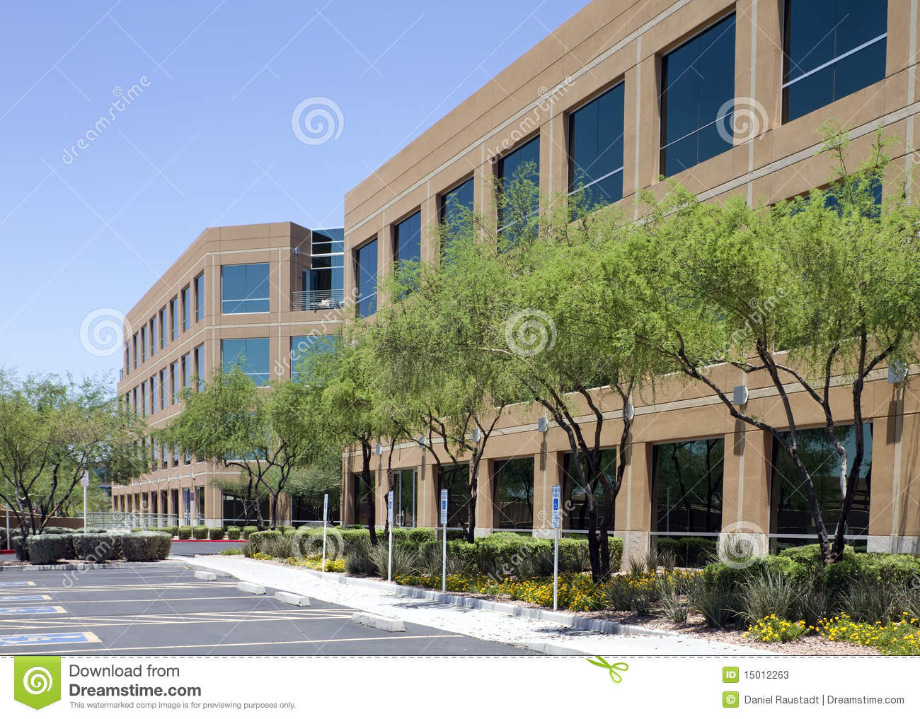 Exterior: New Modern Corporate Office Building Exterior Stock Image