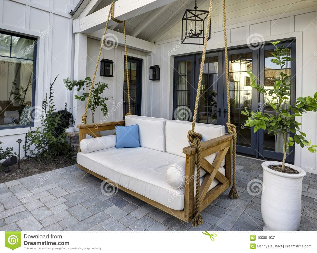 New Modern Classic Home Patio With A Swing