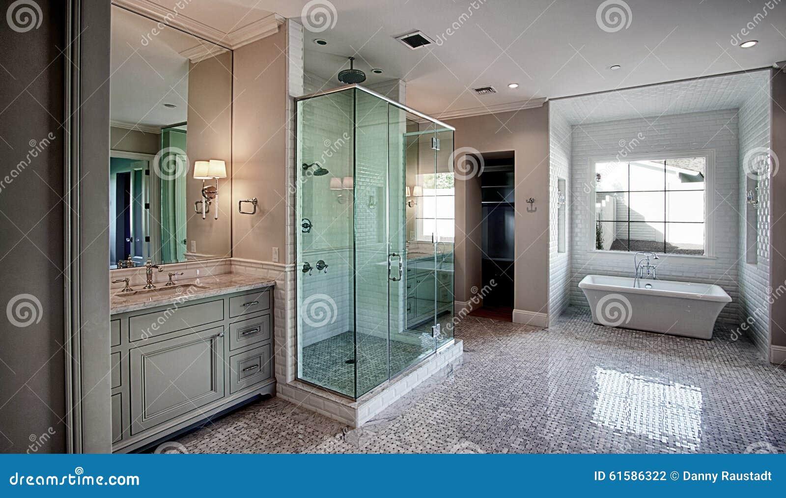 New Modern Home Master Bath Room