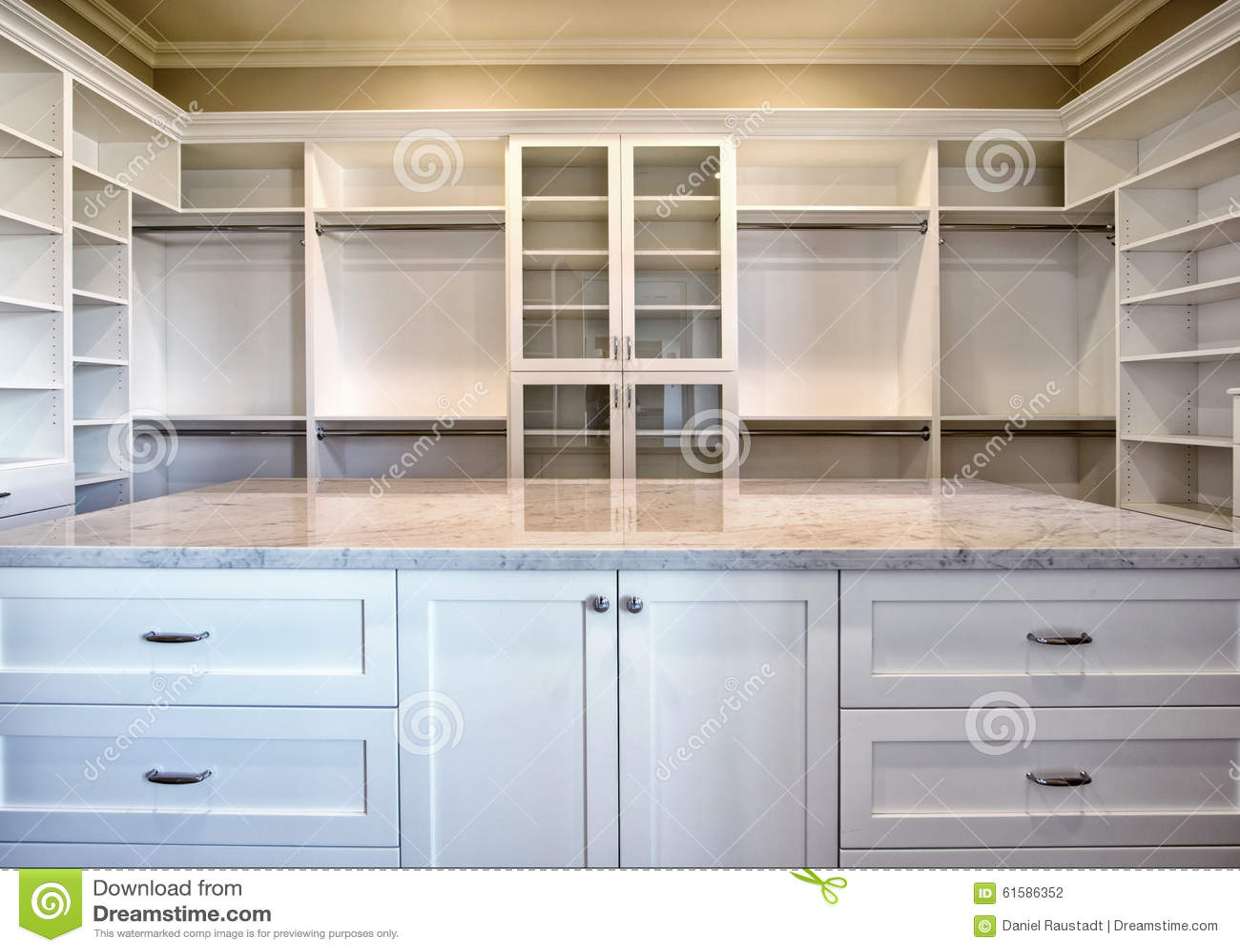 . New Modern Home Master Bedroom Closet Stock Photo   Image of huge