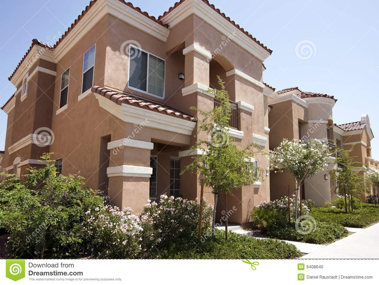 New Modern Homes In The Arizona Desert Stock Photo Image