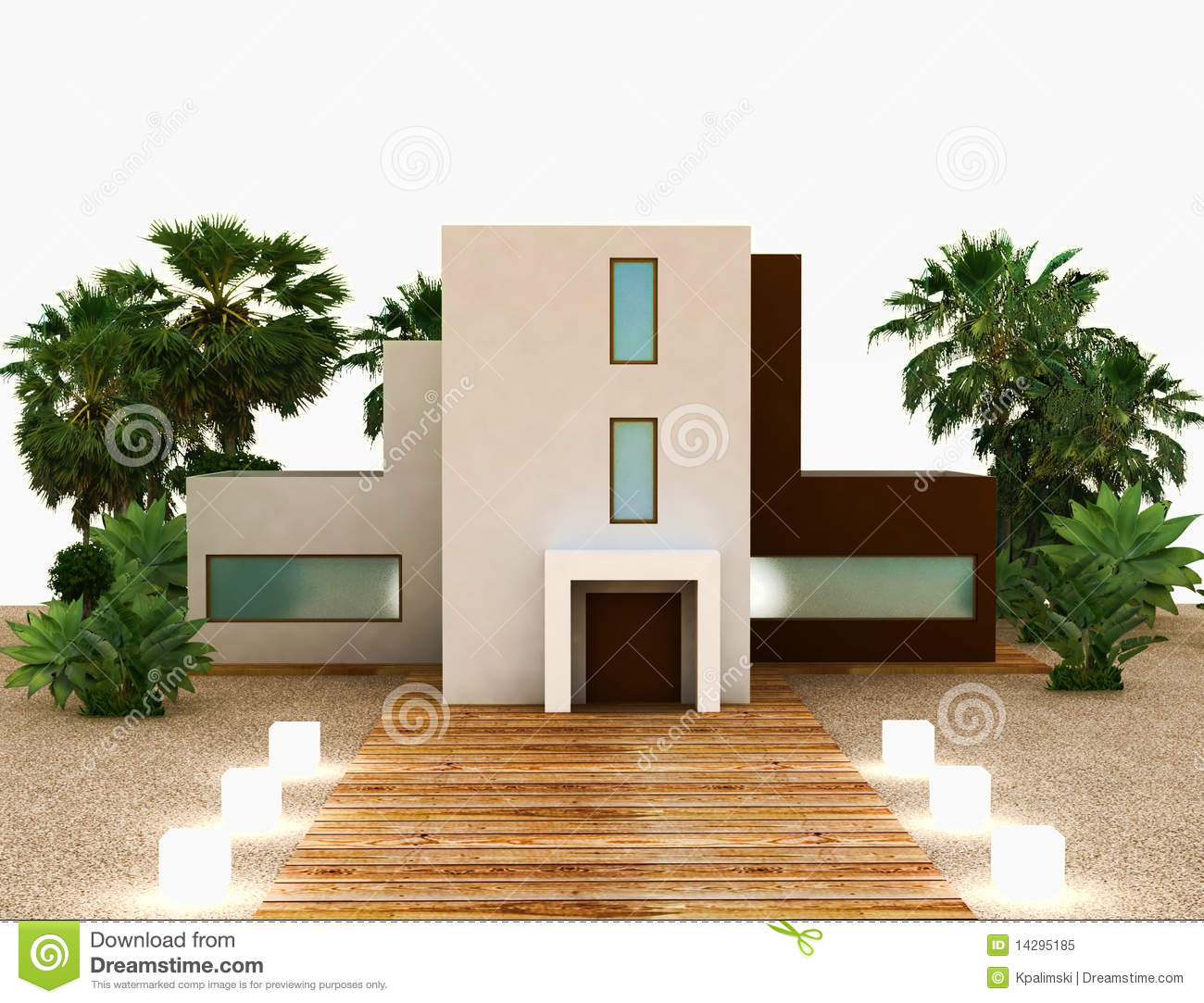 New modern house exterior stock illustration illustration for Modern vintage house exterior