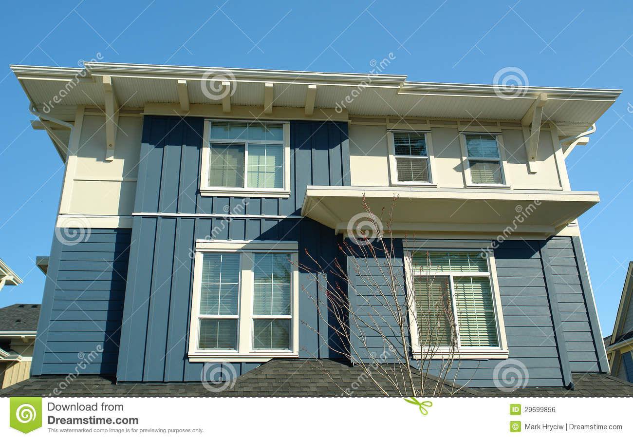 New modern house home blue royalty free stock image for Blue modern house