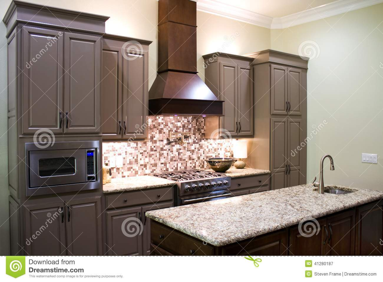 New modern kitchen stock photo image 41280187 for Marvellous modern luxury kitchen with granite countertop