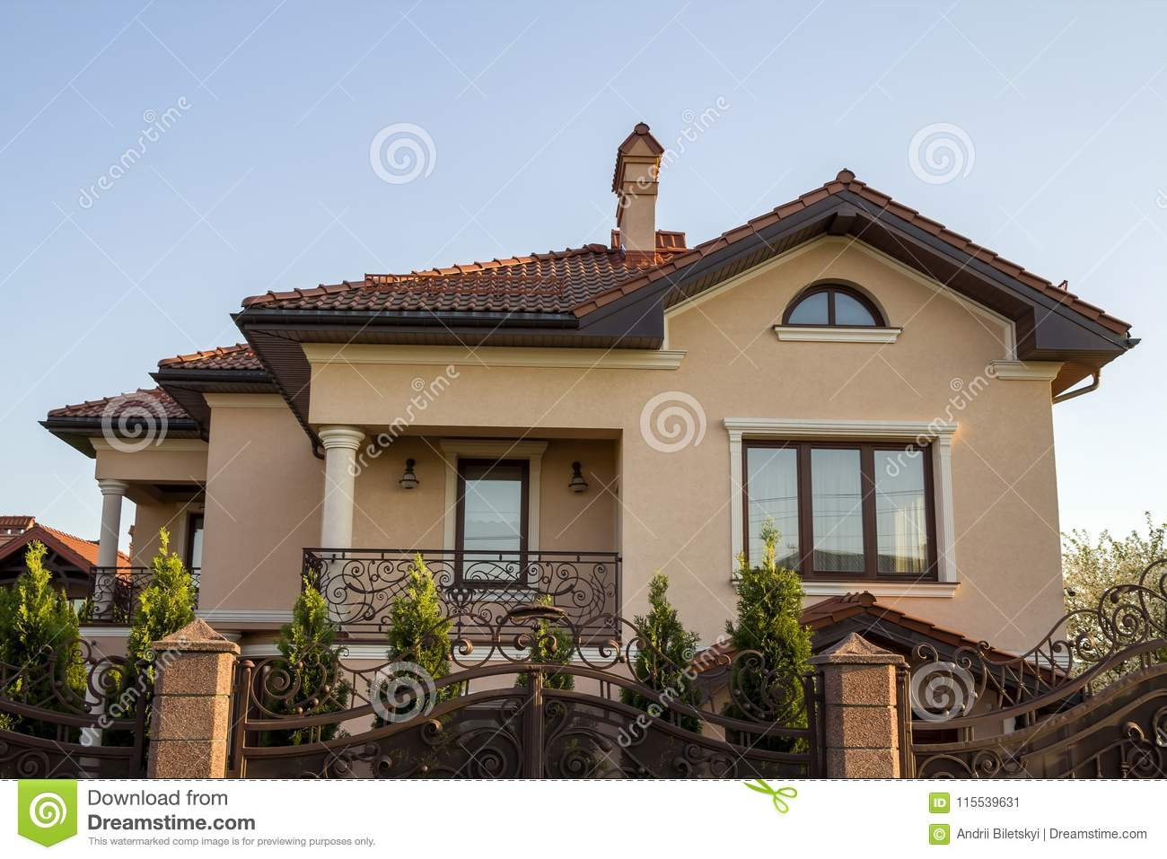 two story balcony New Modern Luxurious Expensive Residential Two Story Cottage