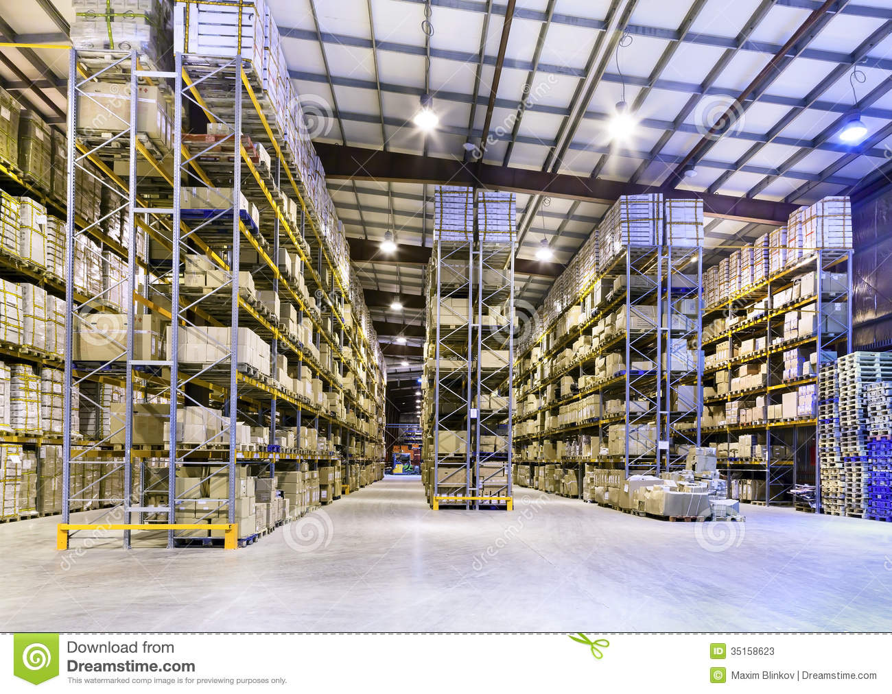 New and modern warehouse