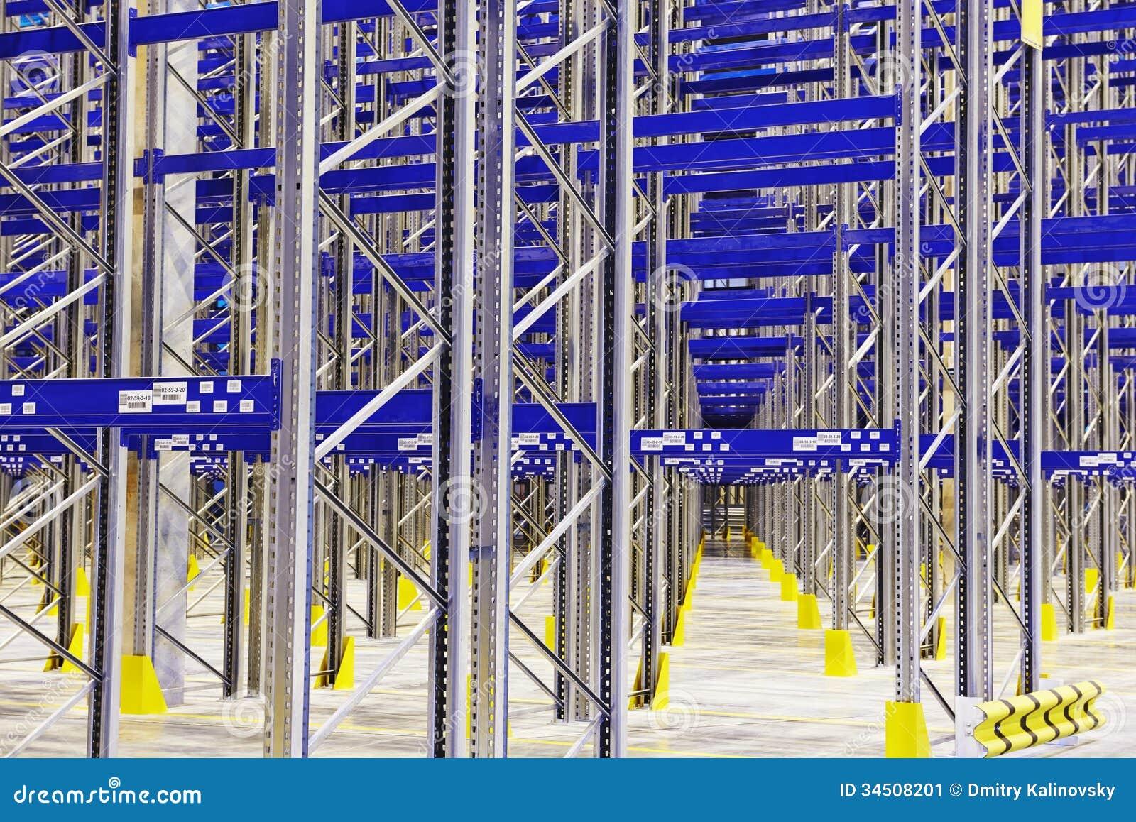 New modern warehouse rack