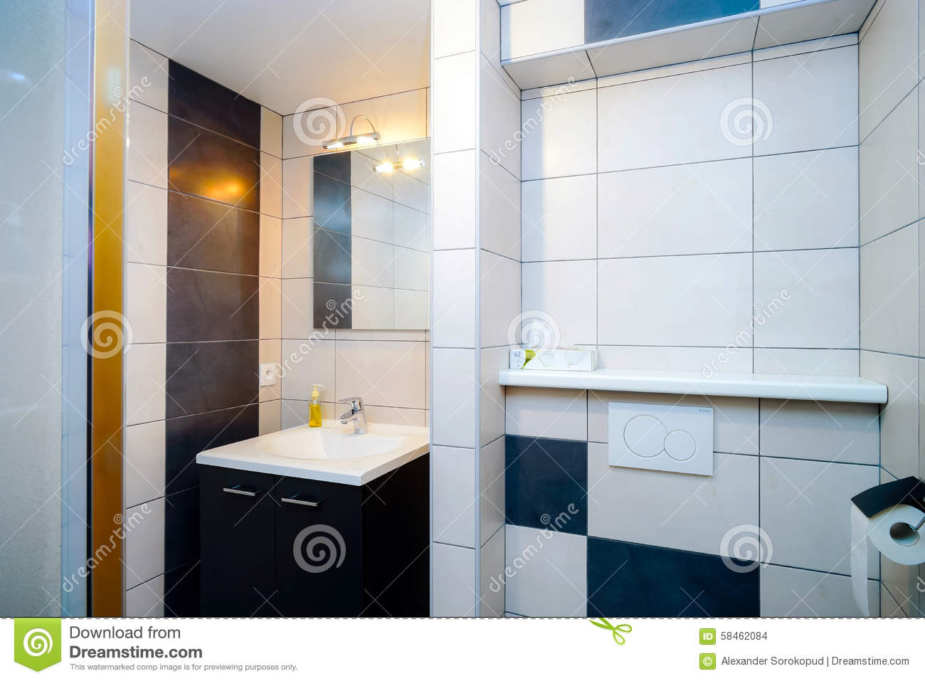 New modern wc with douche in apartment stock photo image of