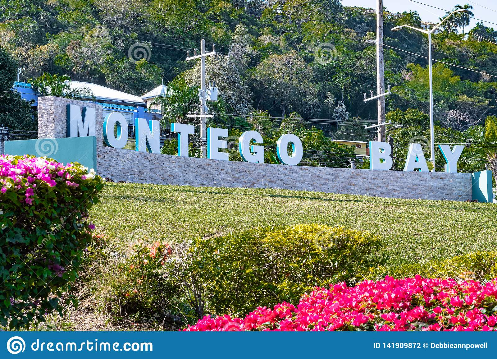 The New Montego Bay Sign In Jamaica Stock Photo Image Of Letters