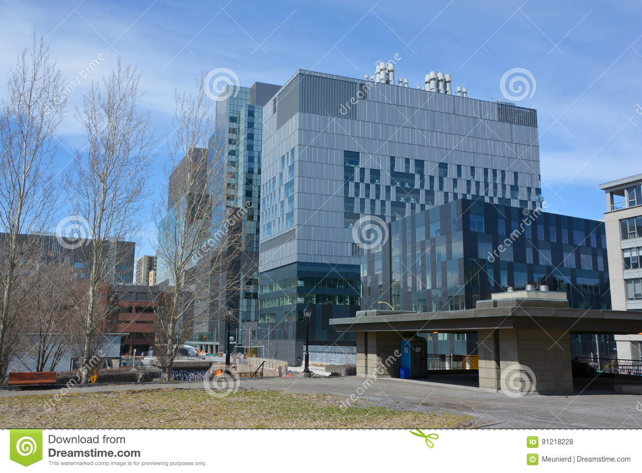 New Montreal`s Centre Hospital Editorial Stock Photo - Image