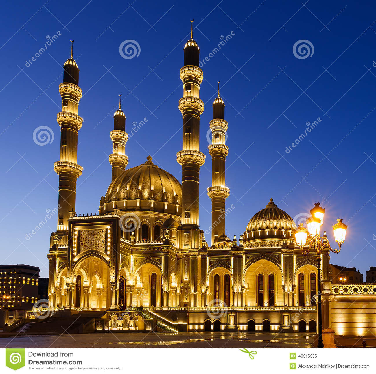 New Mosque In Baku Stock Image Image Of Lamppost Travel