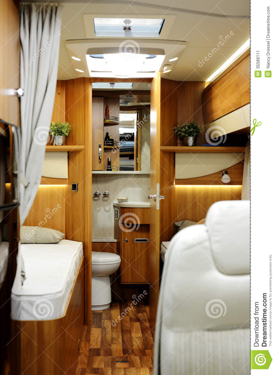 New Motor Home Inside View Stock Image Image 35566111