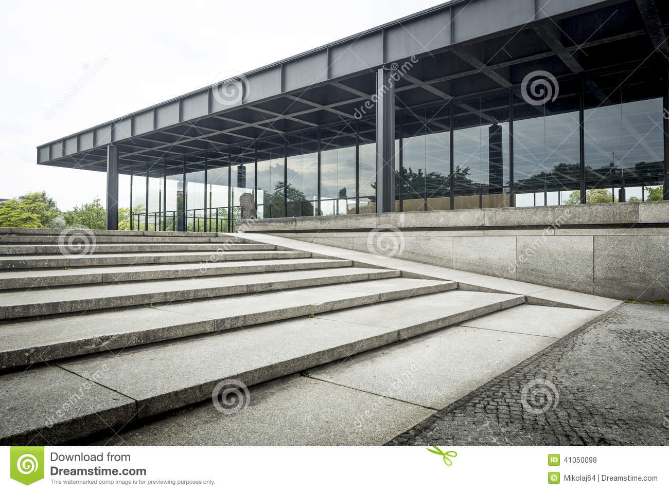 New National Gallery In Berlin Stock Photo Image Of 1960
