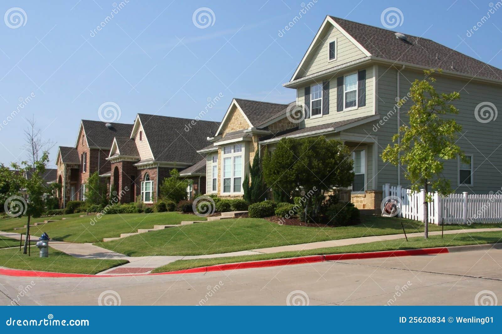 New neighborhood building in countryside