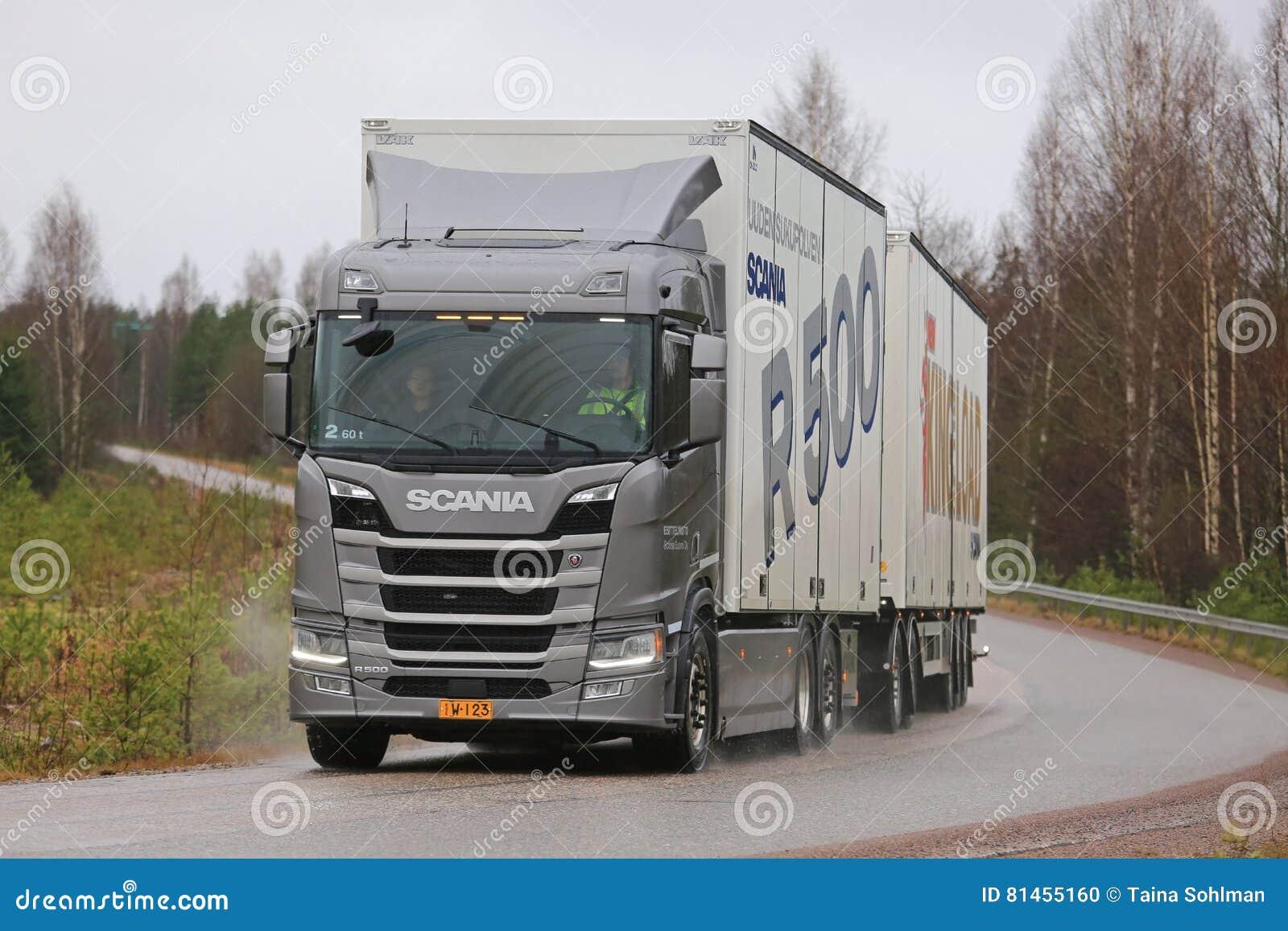 new next generation scania r500 trailer truck on test. Black Bedroom Furniture Sets. Home Design Ideas
