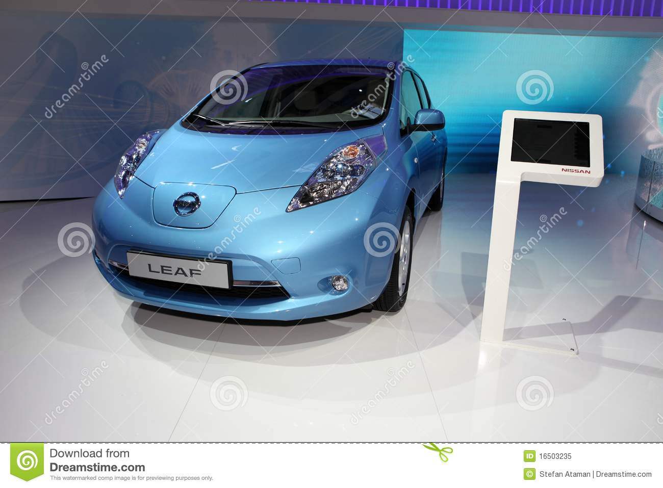The New Nissan Leaf Editorial Image Image 16503235