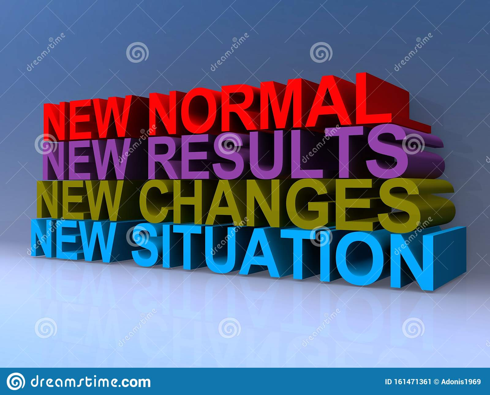 New Normal New Results New Changes New Situation Stock