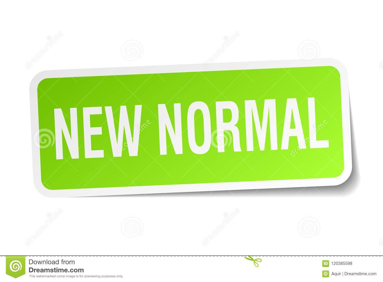 New Normal Sticker Stock Vector Illustration Of Isolated 120385598