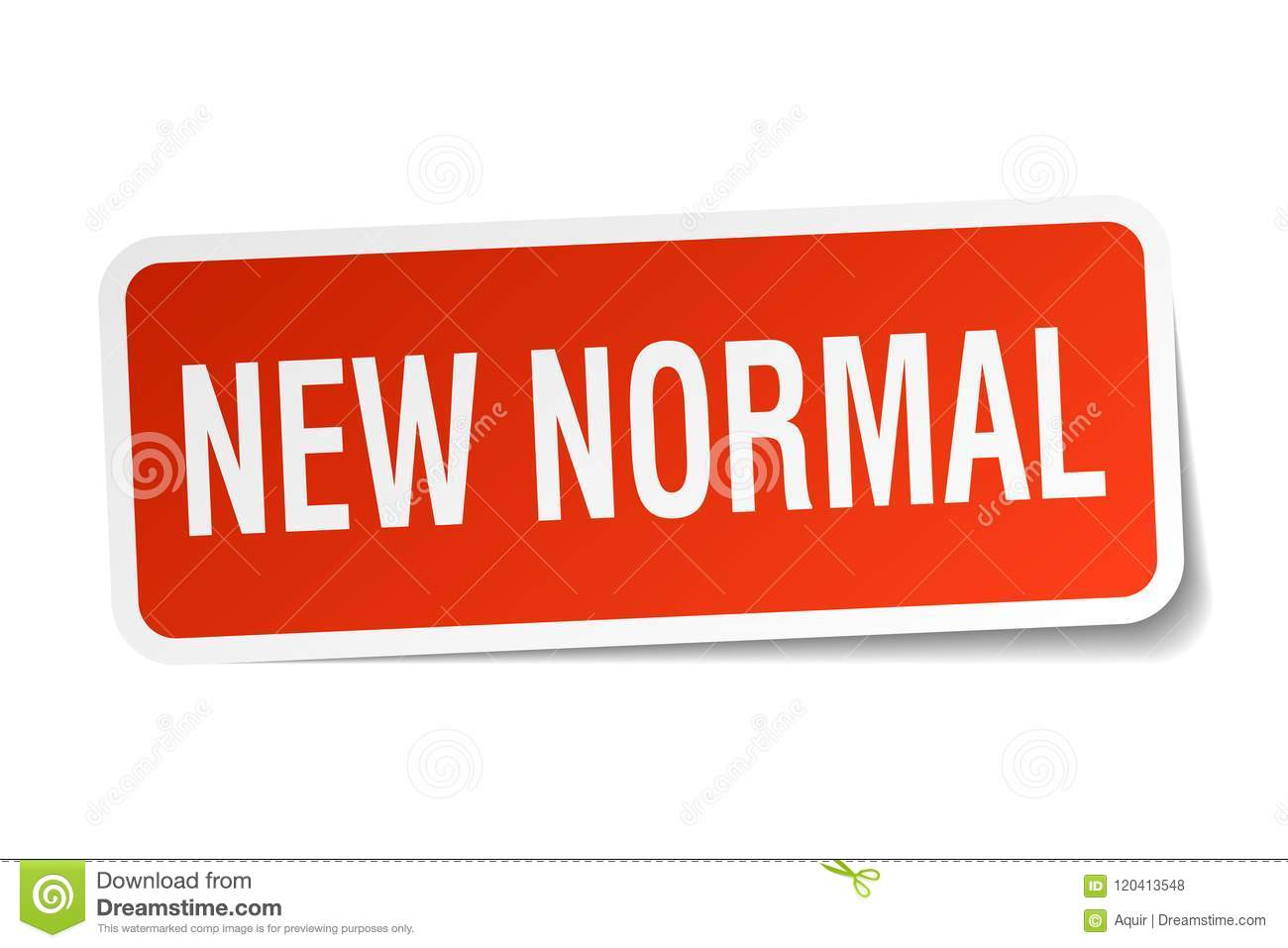 New Normal Sticker Stock Vector Illustration Of Background