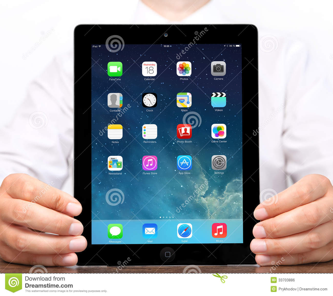 New Operating System IOS 7 Screen On IPad Apple Editorial ...