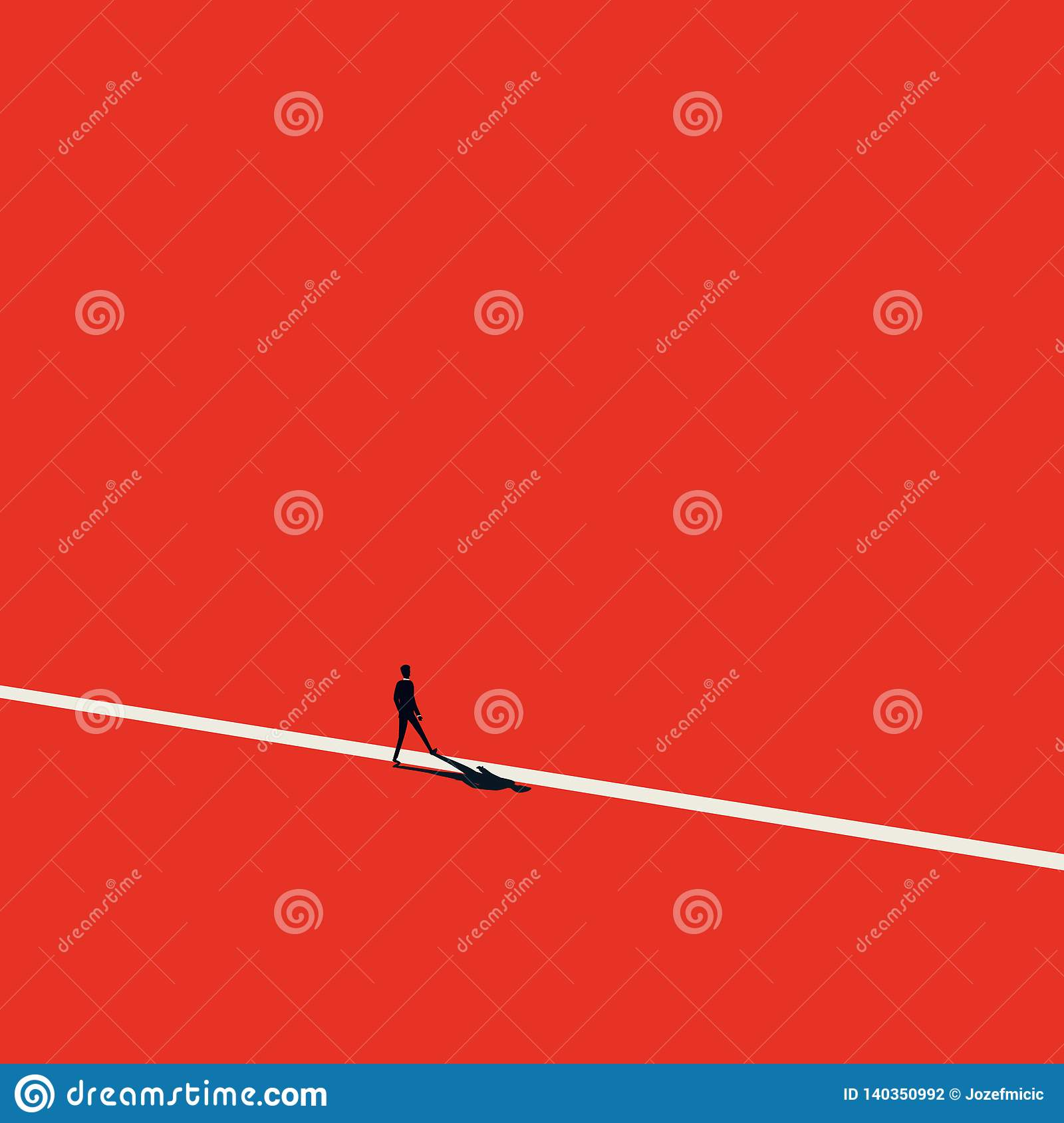 New opportunity in career vector concept. Minimalist artistic style. Symbol of new beginning, challenge, progress