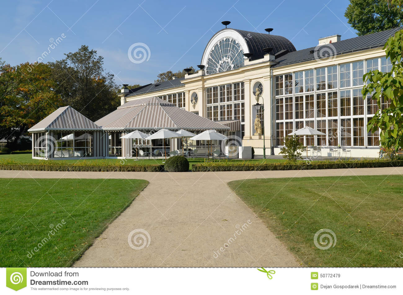 New Orangery In The Lazienki Park In Warsaw Editorial Stock Image