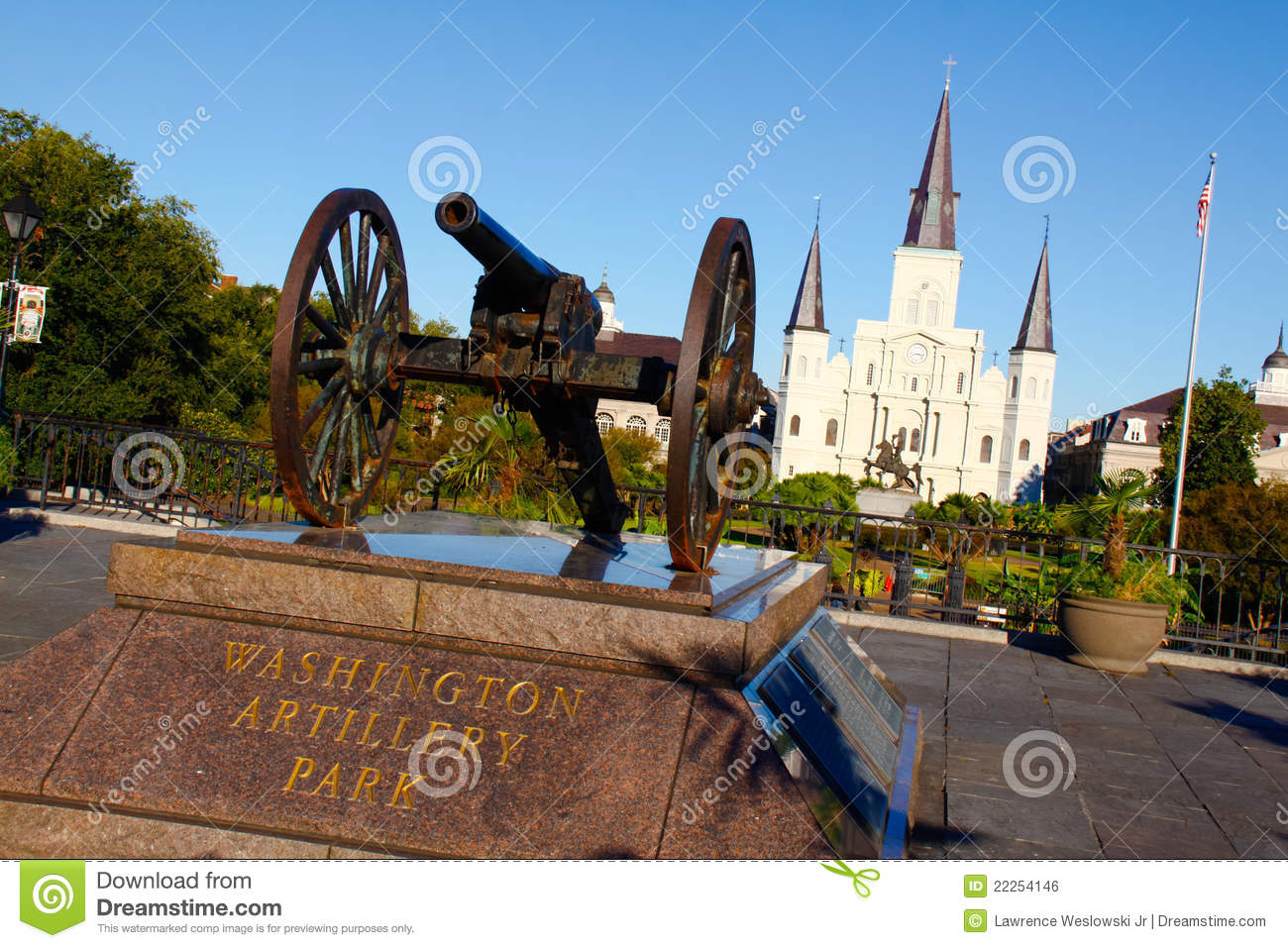 New Orleans Artillery Park St Louis Cathedral