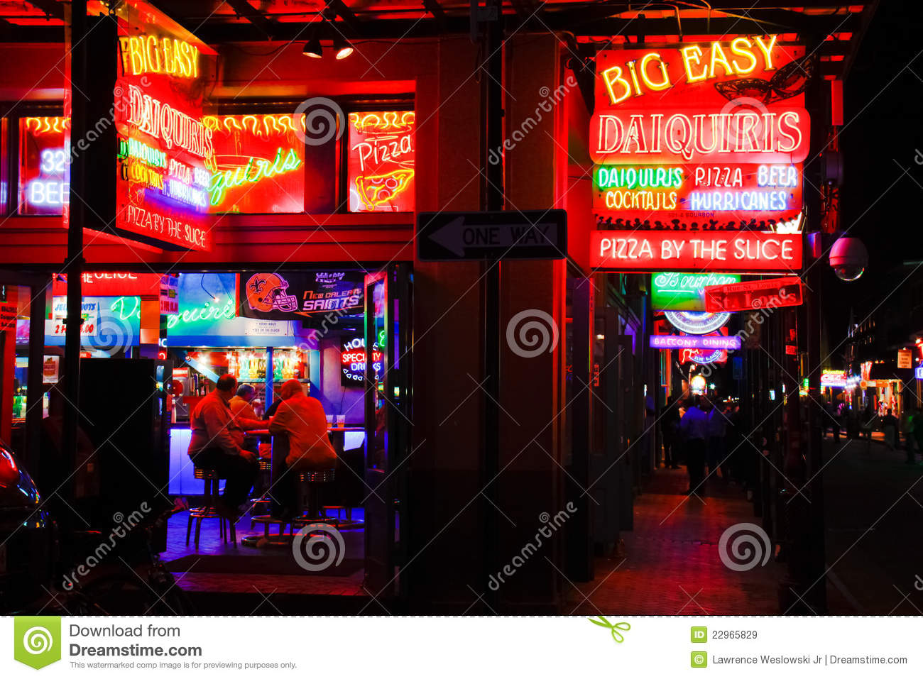 New Orleans Bourbon Street Food and Drink