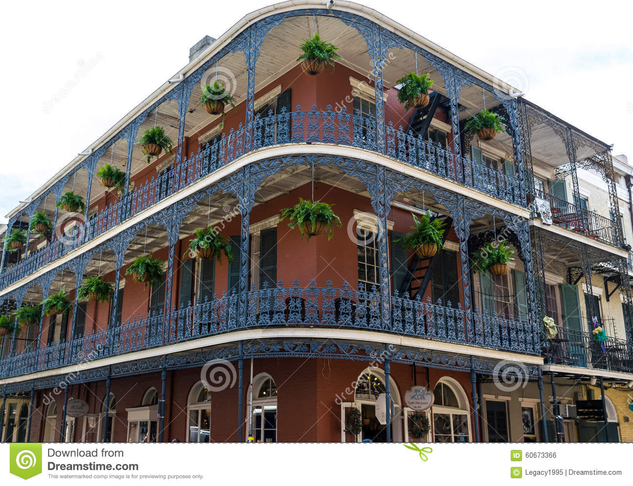 New Orleans French Quarter Architecture Stock Photo Image 60673366
