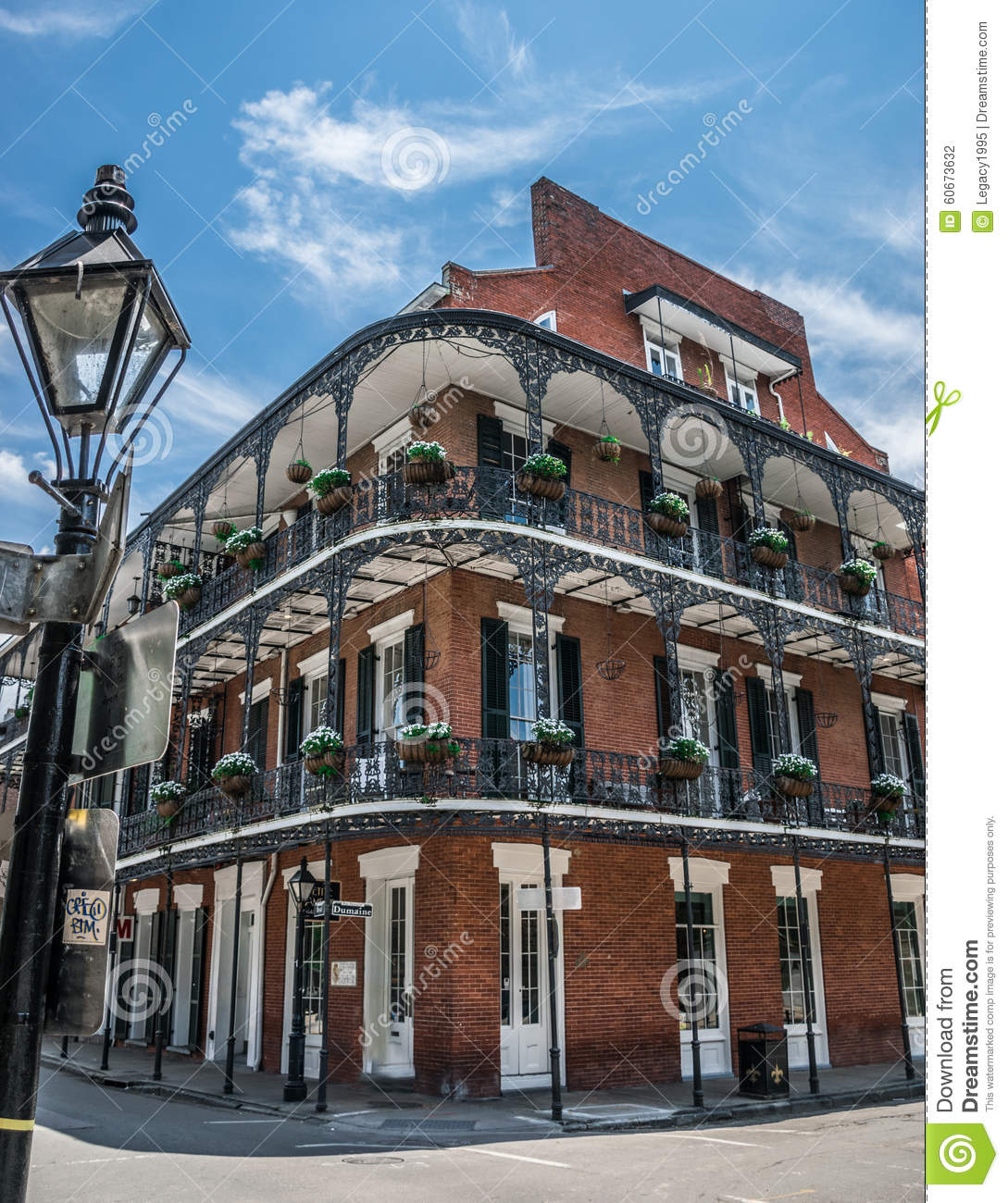 New Orleans French Quarter Architecture Stock Photo Image 60673632