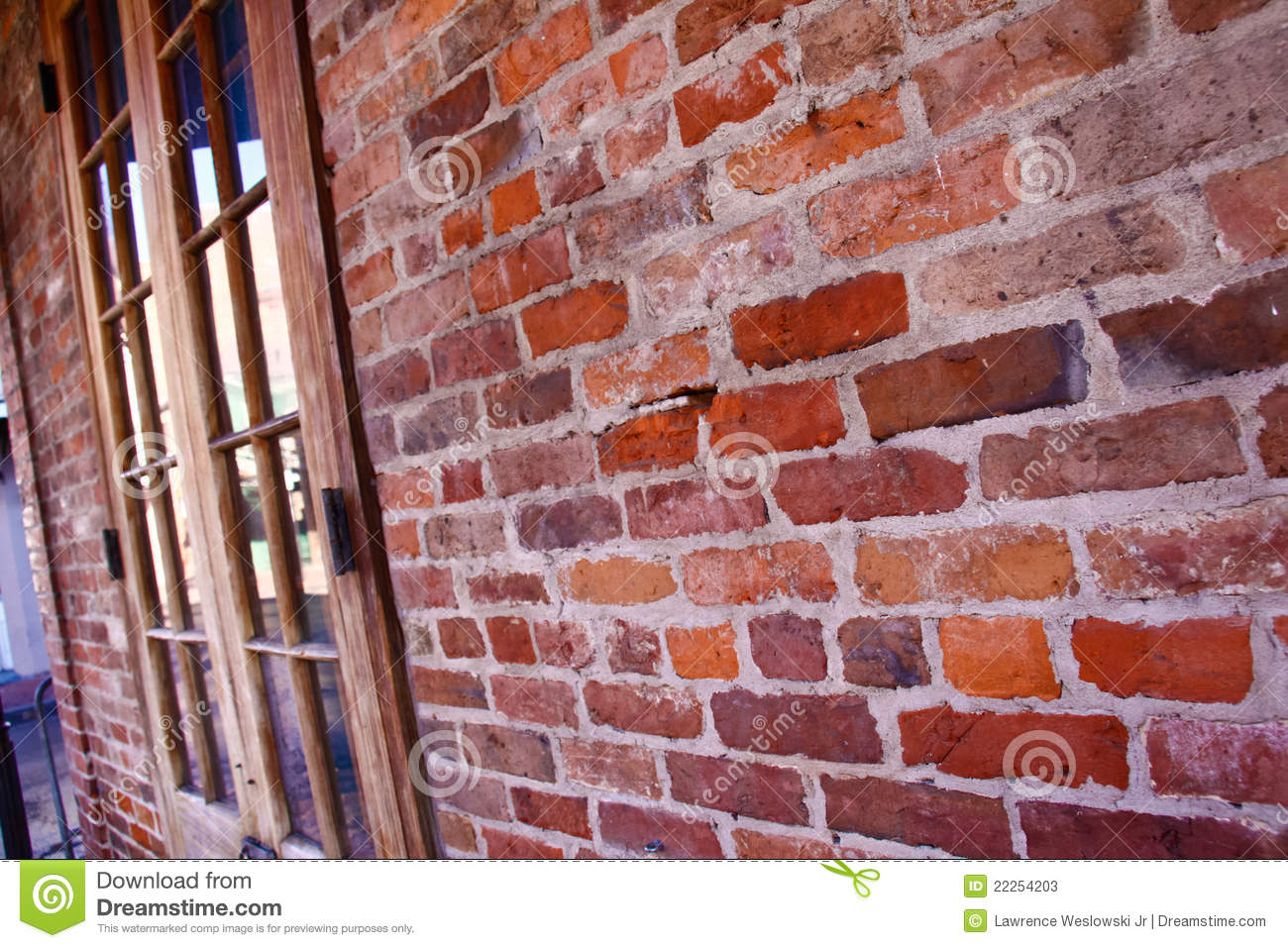 New Orleans French Quarter Brick Wall Editorial Stock Photo Image 22254203