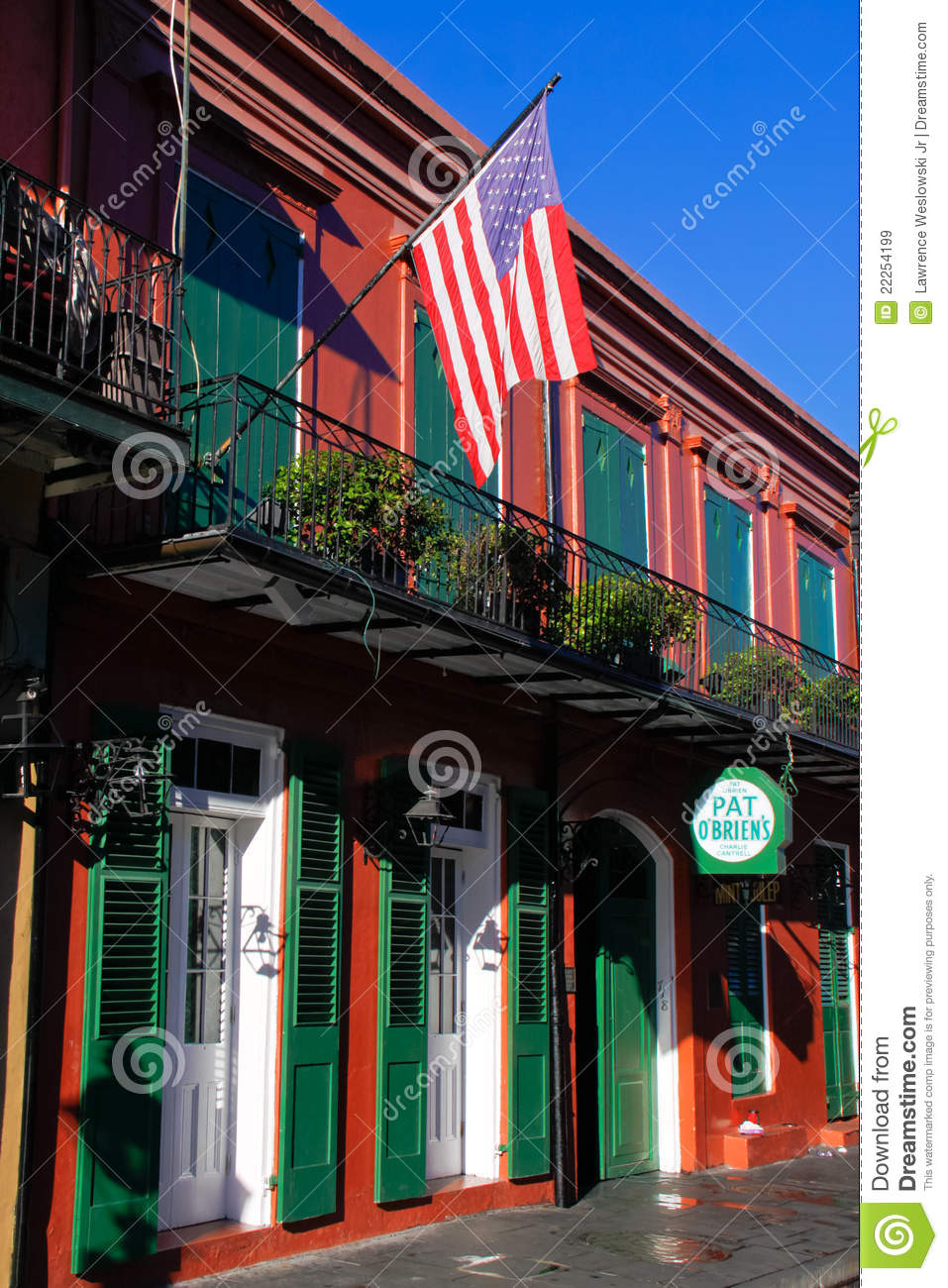 New Orleans French Quarter Pat Obriens Editorial Stock Image Image