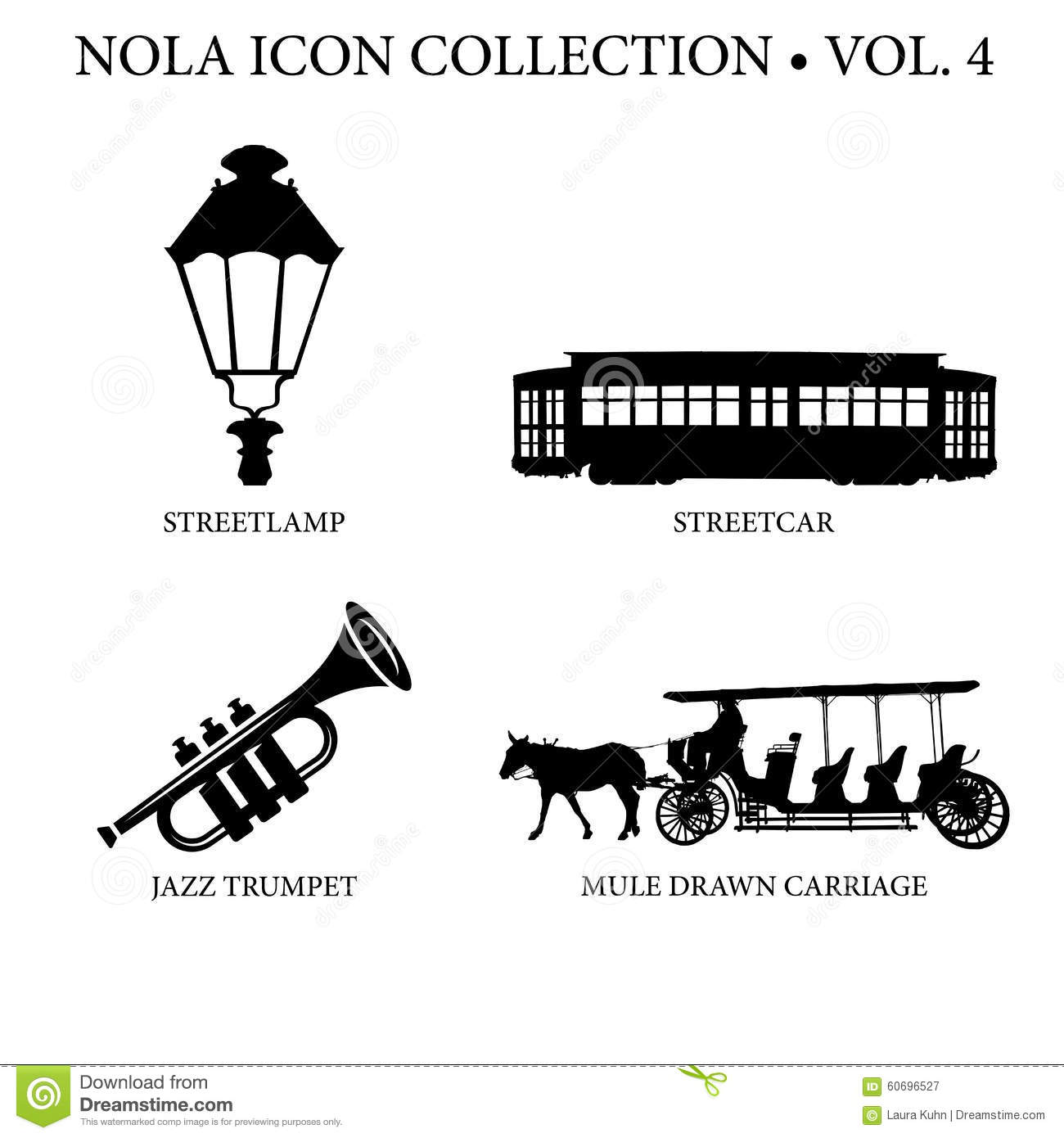 New Orleans Icon Collection Stock Image Image Of Create