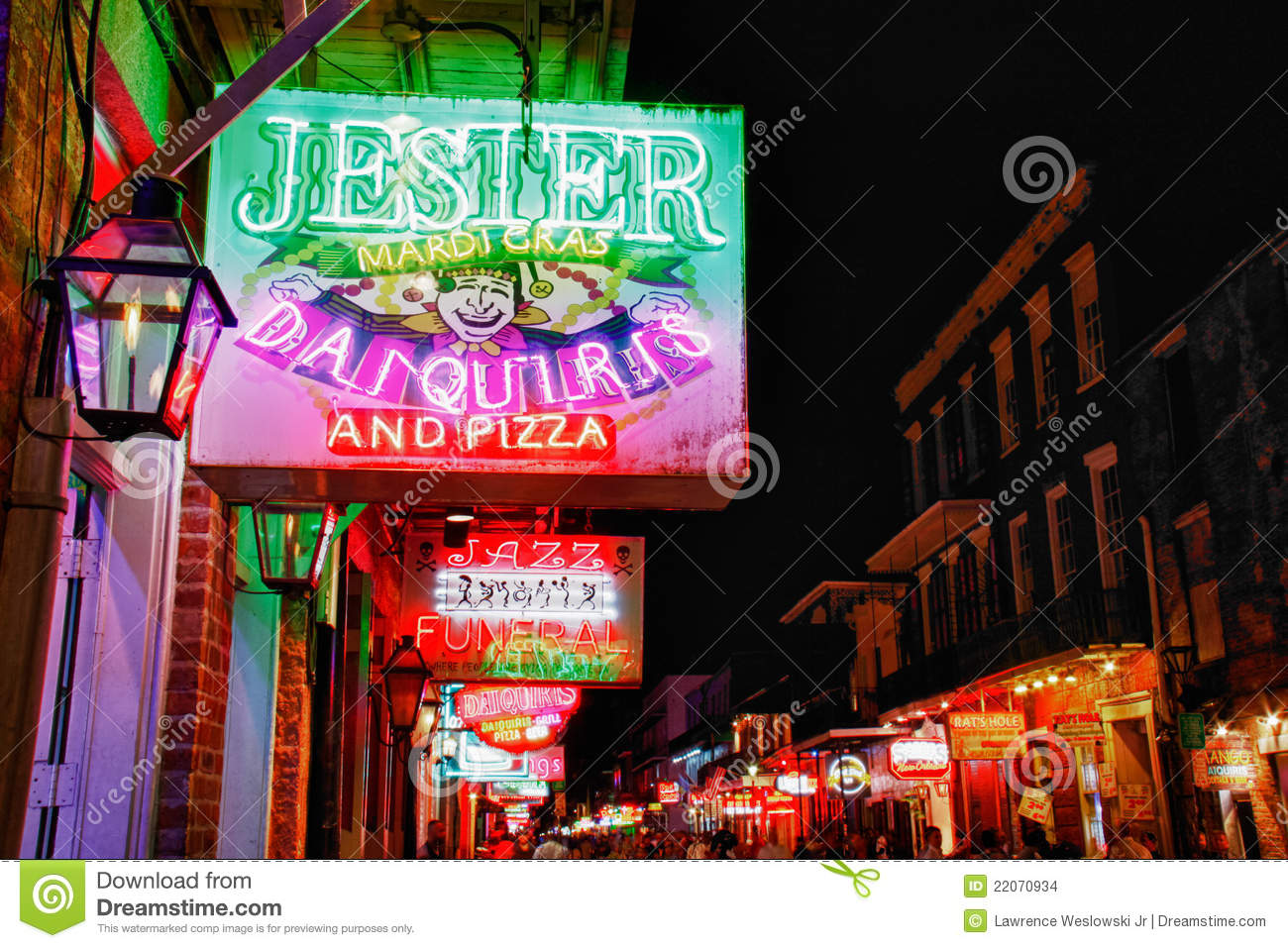 New Orleans Jesters On Bourbon Street Editorial Stock Image