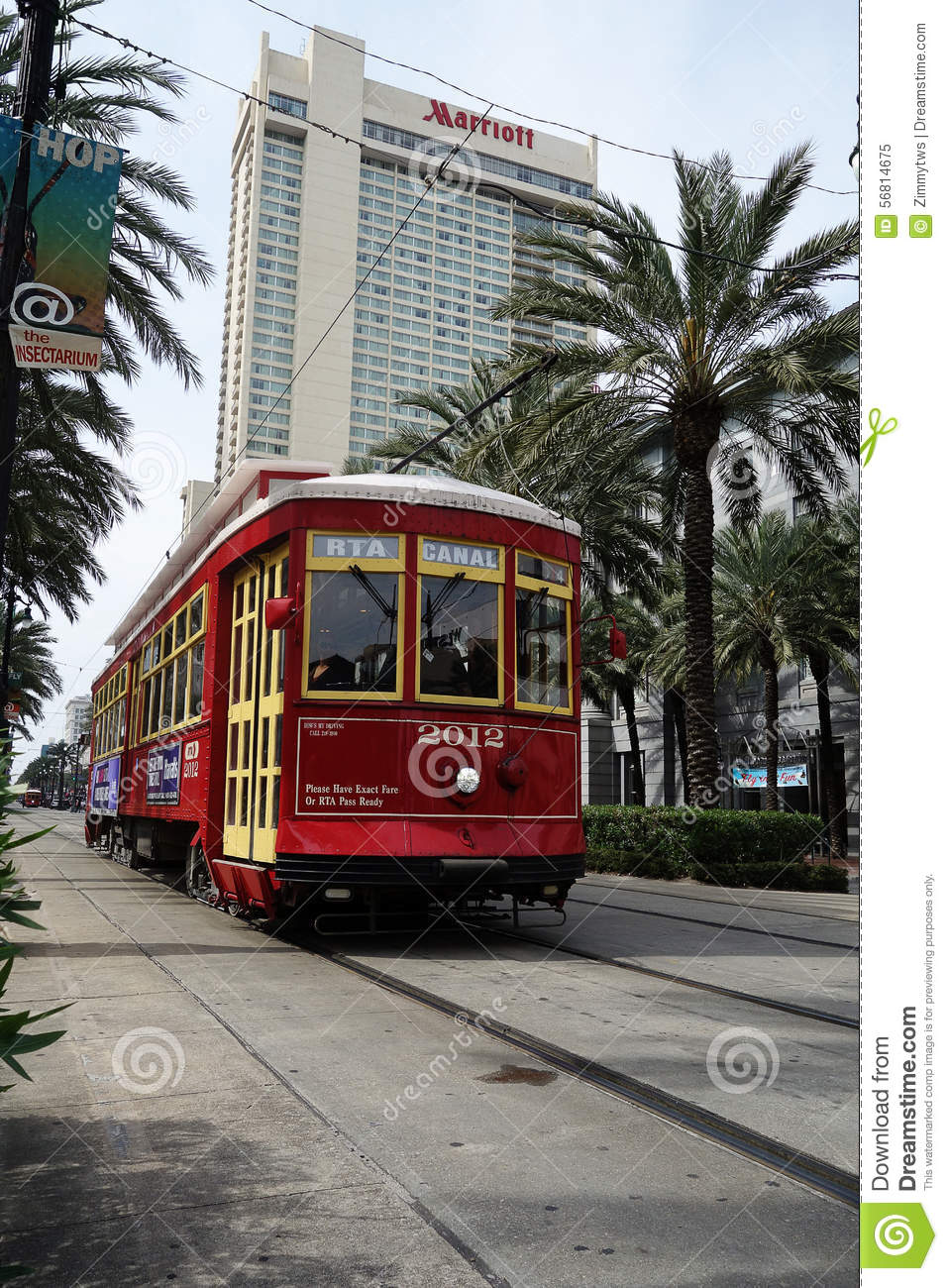 New Orleans La Usa 3 21 2014 New Orleans Canal St Street Car