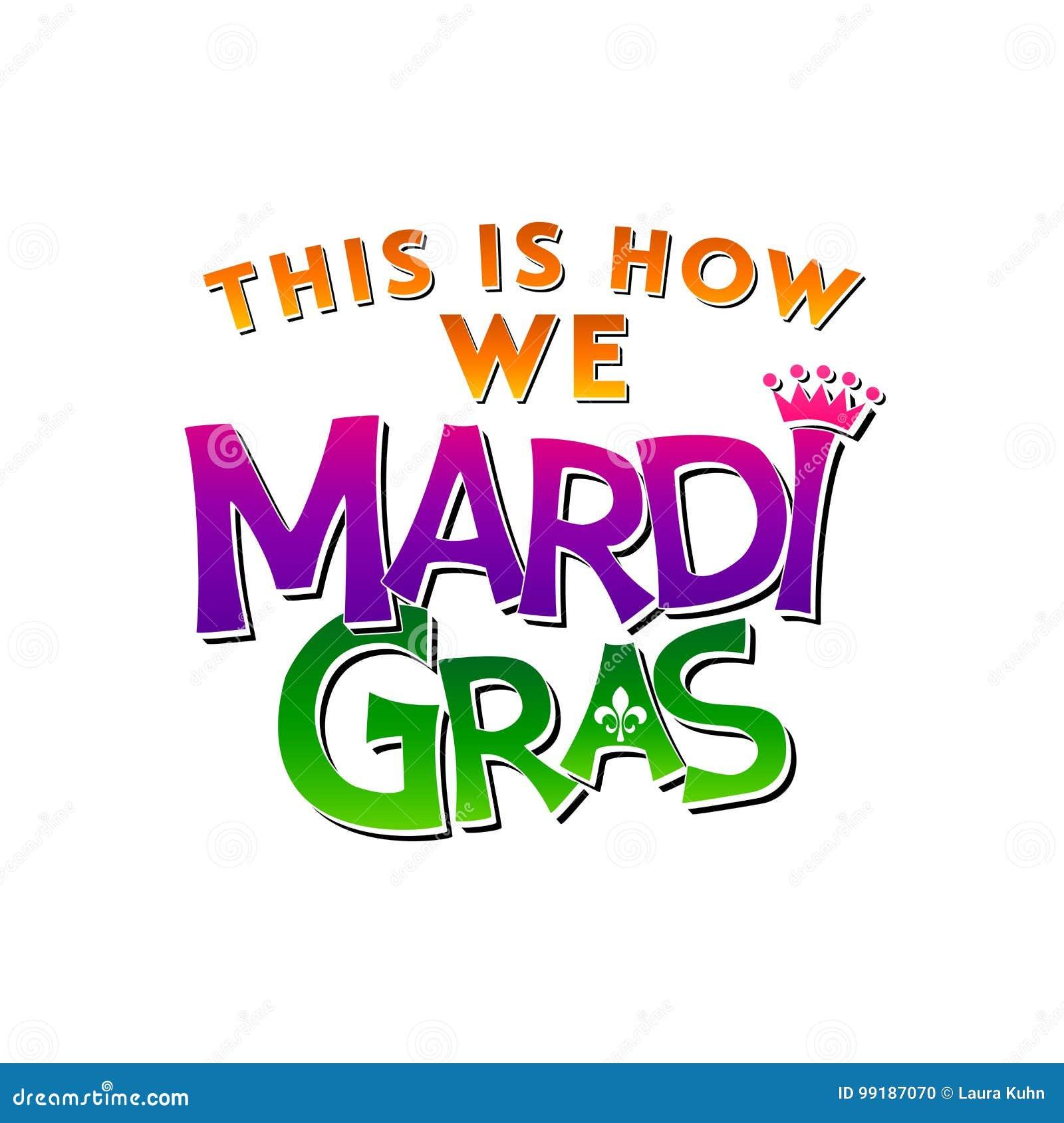 New Orleans Mardi Gras Design U. Typografie Stock Abbildung ...