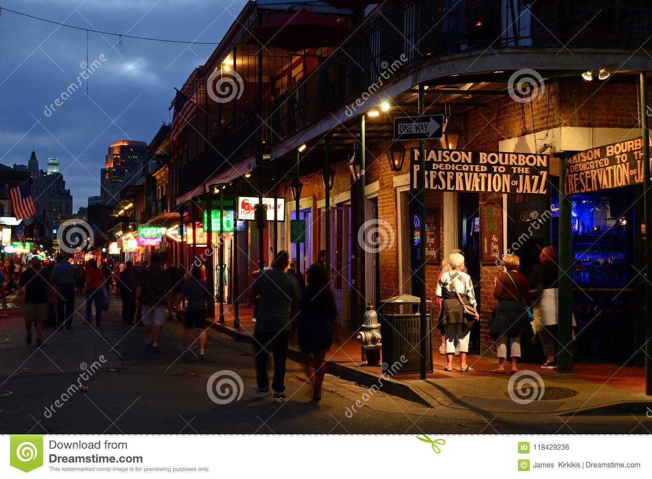 Maison bourbon a classic new orleans jazz club in the french quarter