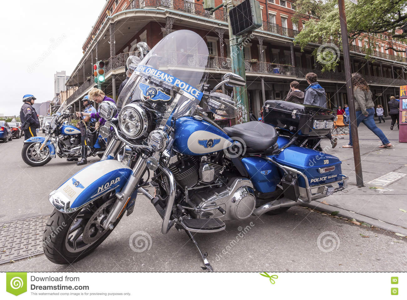 New Orleans Police Motorcycle