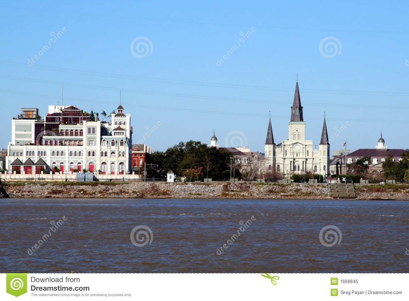 New Orleans Skyline Royalty Free Stock Photo - Image: 1668845