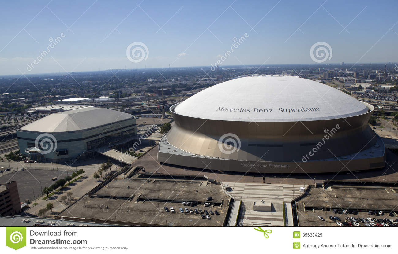 New orleans sports and entertainment complex editorial for Mercedes benz superdome new orleans la