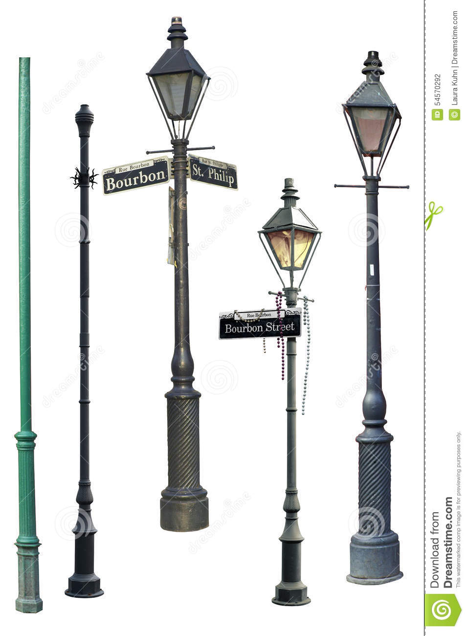 New Orleans Street Light Collection Stock Photo Illustration Of